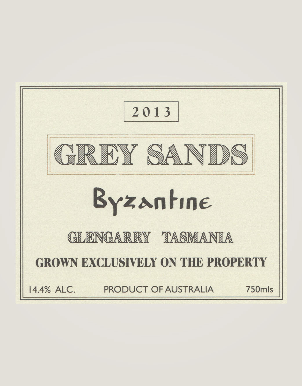 Grey Sands byzantine-13-label