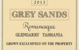 Grey Sands 2013 Romanesque label