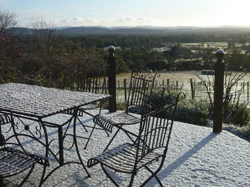 tamar valley wines snow tasting area