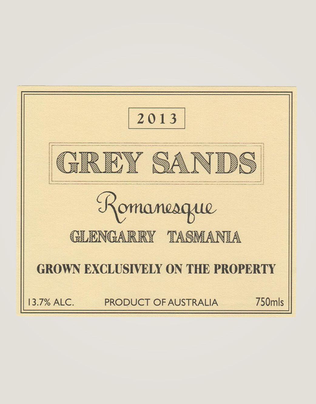 Grey Sands Romanesque 2013 label