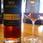 Bottle & glass of Bacalhoa, Moscatel de Setubal