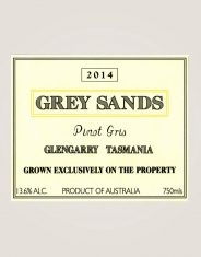 Grey Sands Pinot Gris 2014 label