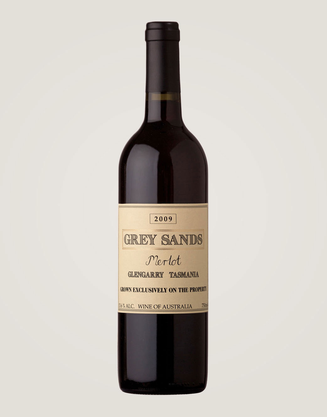 Grey Sands 2009 Merlot bottle