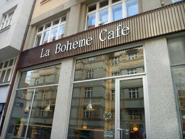 La-Boheme-Cafe,-Prague, Czech Republic