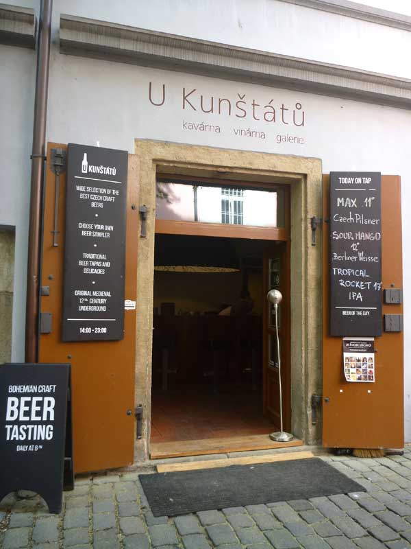 Amazing beers U-Kunstatu, Prague, Czech Republic