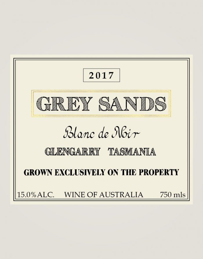 Grey Sands Blanc de Noir label