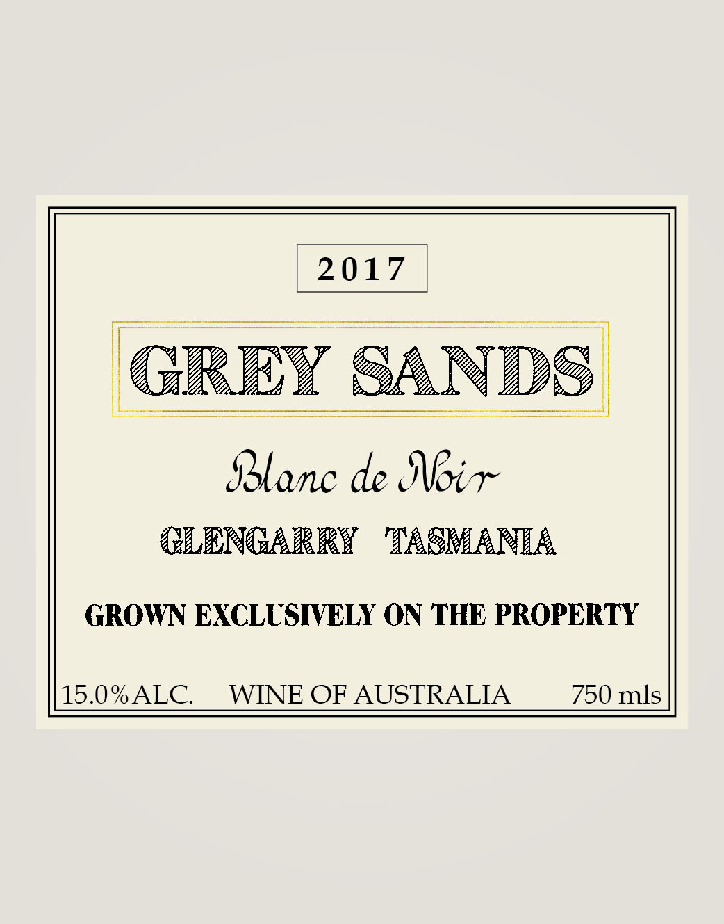 Grey Sands Blanc de Noir label