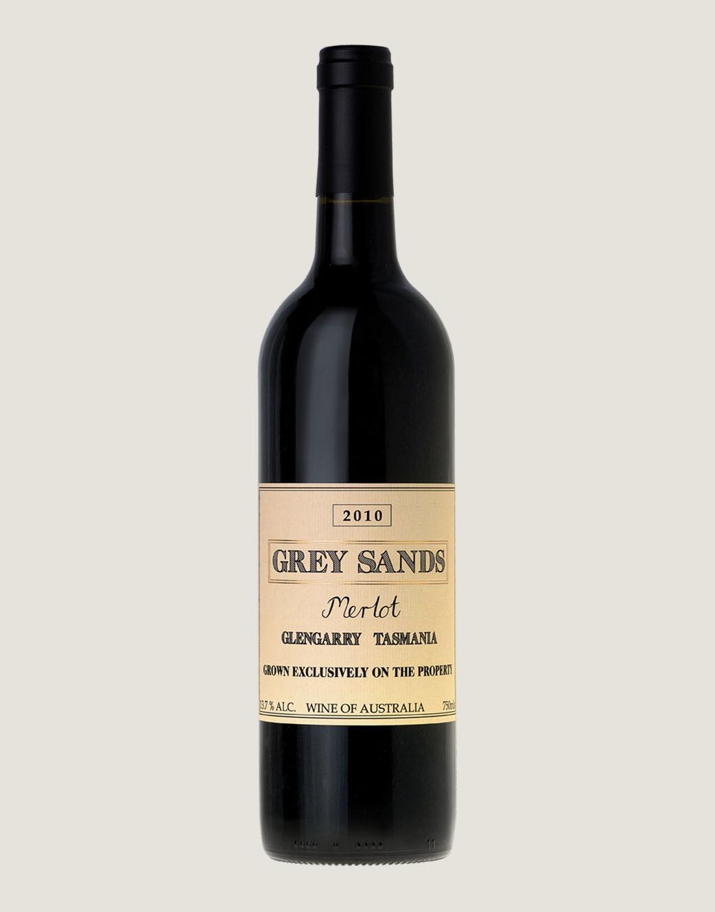 Bottle shot of Grey Sands 2010 Merlot