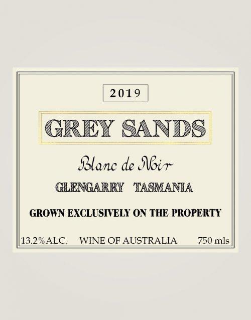 Grey Sands 2019 Blanc de Noir label